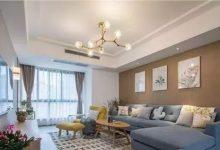 110平米三室简约风格装修 木质背景墙超温馨-三思生活网