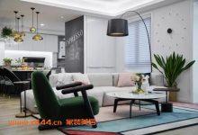 120平现代简约三居,时尚优雅,餐厅的灯带来不可思议的美感-三思生活网