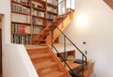 复式楼不装书房,越来越多人都在楼梯下装书架,下沉30公分还省地-三思生活网