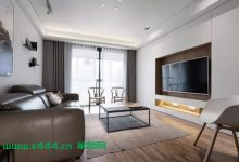 120㎡现代简约,电视墙装成收纳,美观简洁而大方-三思生活网