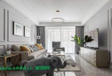 117㎡优雅美式3室2厅,细腻质感彰显轻奢韵味-三思生活网
