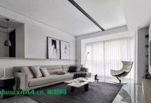 110平现代简约时尚三室 黑白灰呈现纯粹本质 创意家居装修2020-03-14-三思生活网