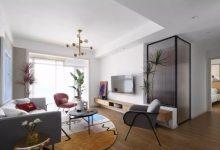 107平的现代简约风二居室装修风格,软装很优雅-三思生活网