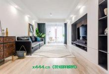 120平的现代简约风三居室装修样板房,玄关的六边砖设计别具一格-三思生活网
