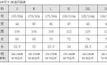 170/92a是多大尺码 上衣-三思生活网