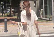 刘亦菲春日紫樱蛋糕裙 轻盈薄纱尽显春日浪漫气息-三思生活网