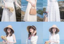 白色长款连衣裙搭配图片 好看的款式-三思生活网