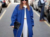 苹果型身材穿衣搭配图 茧形外套H型连衣裙-三思生活网