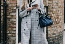 灰色格子大衣款式搭配图片 搭配什么裤子-三思生活网