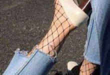 乐福鞋配什么袜子 渔网袜纯棉纯色条纹袜-三思生活网